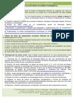 ROTEIRO DE ESTUDO E TRABALHO Ciências da Natureza