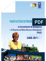 Plan d'Action du Programme Pays entre Le Gouvernement de Madagascar et Le Programme des Nations Unies pour le Développement (PNUD), 2008-2011