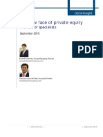 The new face of private equity The role of specialists  - SEPTEMBER 2010
