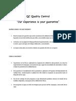 QC Quality Control Presentación