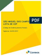 Guia Local de CEP - Sao Miguel dos Campos-AL