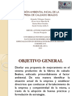REVISIÓN AMBIENTAL INCIAL DE LA EMPRESA DE CALZADO