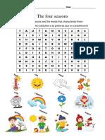 palavras cruzadas seasons & numbers
