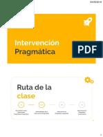 Clase 7. Intervención en pragmática lingüística