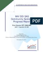 Community Systems Progress Rpt q1