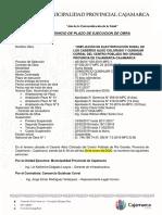 ACTA DE REINICIO DE EJECUCION DE OBRA