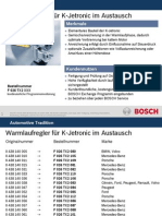 Warm Up Regulator - Bosch Ad wPart Numbers