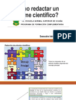 Cómo redactar un informe científico