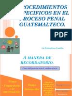 7. PROCEDIMIENTOS ESPECIFICOS EN EL PROCESO PENAL GUATEMALTECO