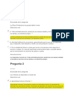 Evaluación u2 Etica Profesional