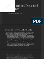 How to collect Data and Evidences