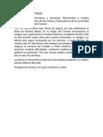 MONICION DE ENTRADA CELEBRACION DEL CARMEN