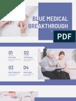 Blue Medical Breakthrough by Slidesgo