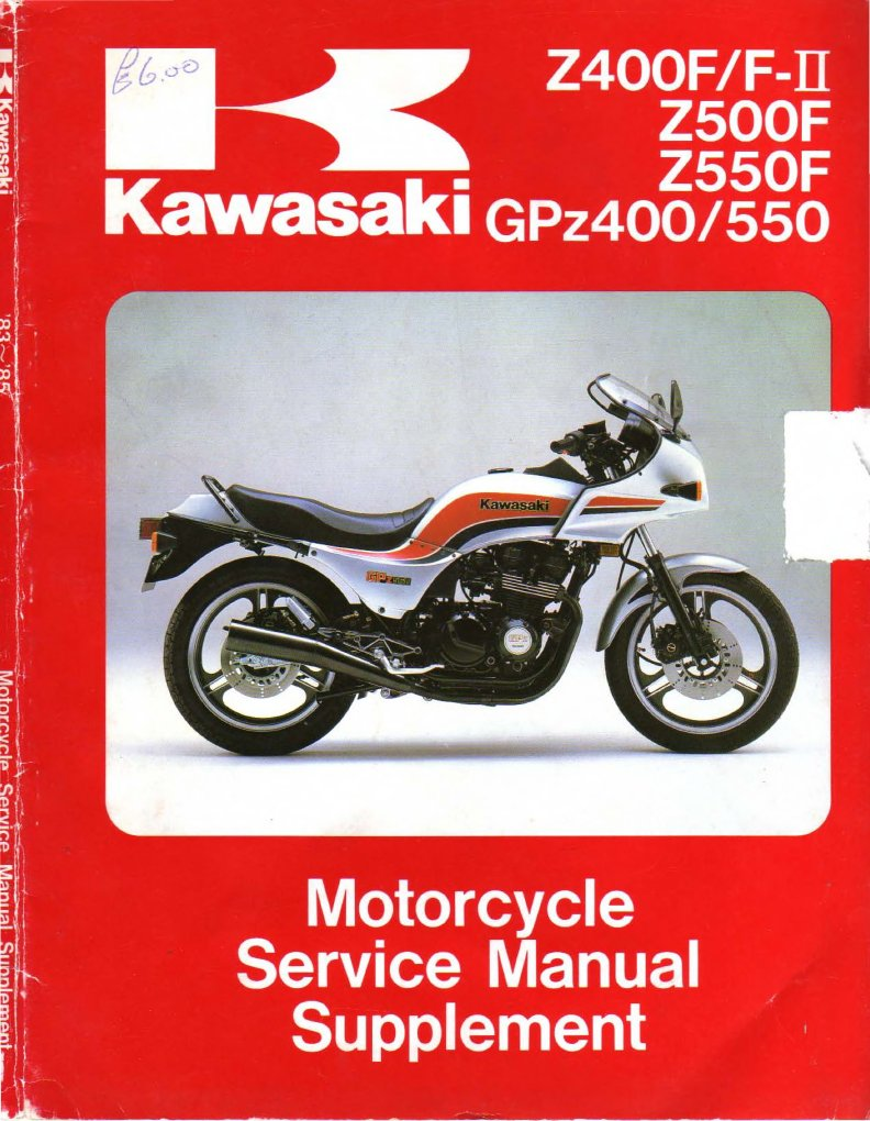 1982 Kawasaki Gpz 550 Service Manual
