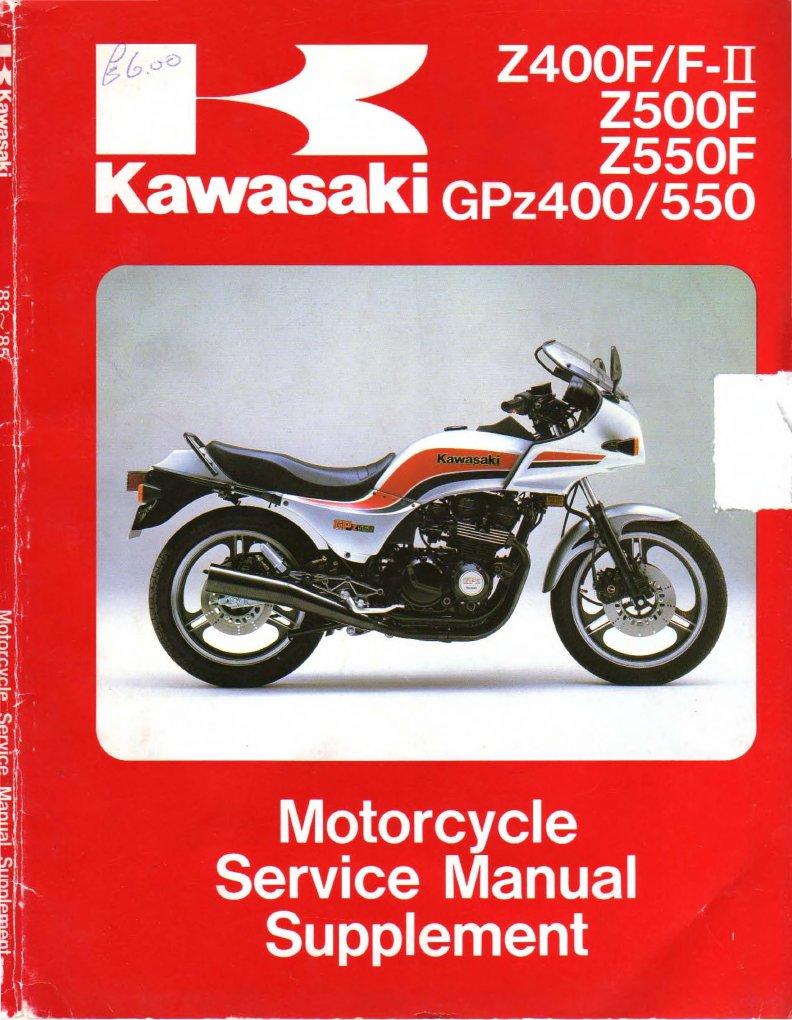 kawasaki gpz 400 550 z 400 f fii z 500 550 f 83 a 85 service rh scribd com 1986 Kawasaki Ninja 1986 Kawasaki Bayou 300