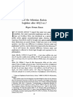 Mogens Herman Hansen (1979), 'Did the Athenian ecclesia legislate 4032-2 BC