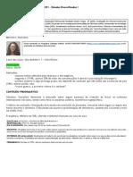 EACH - GPP - Estudos Diversificados I - Prof Iglecias (2019)