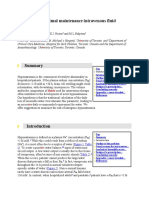 How to Select Optimal Maintenance Intravenous Fluid Therapy