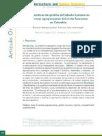 Investigación de GTH en empresas bananeras de Colombia