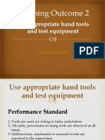 Use Hand Tools - LO 2 - Use appropriate hand tools and Test Equipment.ppt