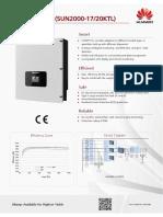 PV Inverter Catalogue - HUAWEI SUN2000-20KTL
