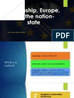 4.- Citizenship, Europe and the nation-state