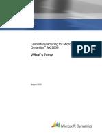 Whats New Lean Manufacturing Dynamics AX 2009
