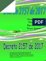 Decreto 2157 de 2017