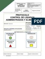 M-GH-P-011 Protocolo Control de Liquidos Administrados y eliminados