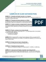 EJEMPLOS DE CLASE SUSTANCIA PURA+