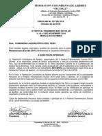 CIRCULAR No  037 - PANAMERICANO ESCOLAR 2019