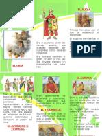 tripticos de la organizacion politica de los incas