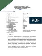 SILABO EPISTEMOLOGIA JURIDICA -2019-I SEMIPRESENCIAL