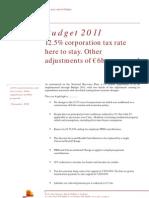 Irish Budget 2011 Final PwC