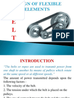 Design of Flat & V-Belt