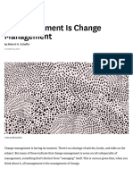 All Management Is Change Management