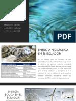 Recursos renovables en el Ecuador