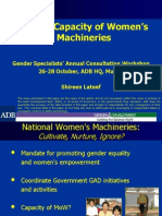 Building Capacity of National Women's Machineries