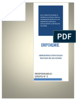 Informe de Armaduras Espaciales - Metodo Secciones