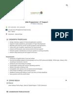 Web Programmer + IT Support Pekerjaan - PT Aldmic Indonesia - 3160446 _ JobStreet _ JobStreet