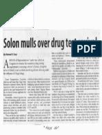 Manila Standard, Feb. 26, 2020, Solon mulls over drug test revival.pdf