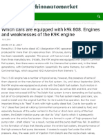 Which cars are equipped with k9k 808. Engines and weaknesses of the K9K engine