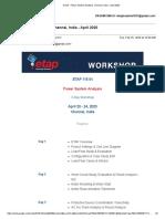Power System Analysis, Chennai, India - April 2020
