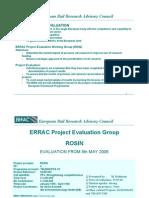 Errac Project Evaluation Rosin Traincom Euromain