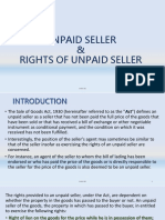 RIGHTS OF UNPAID SELLER