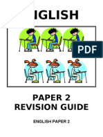 ENGLISH PAPER 2 Revison Booklet