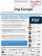 Pharma eMarketing Europe 2011