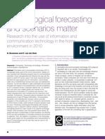 article Bouwman Van der Duin Technology forecasting and scenarios matter