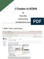 KOHA Barcode Printer