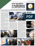 22.ª Exposição Galeria d'Arte Ortopovoa - Serigrafias de Juarez Machado - Notícia Publicada No Jornal Mais Semanario - 26.02.2020